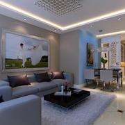 2016现代时尚三居室新婚房子装修效果图