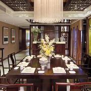 中式原木餐厅装饰