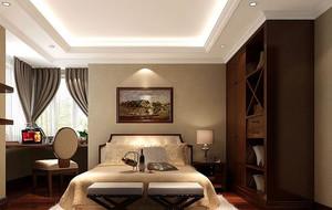 卧室深色系衣柜装饰