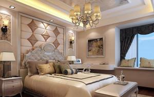 欧式风格卧室床头背景墙