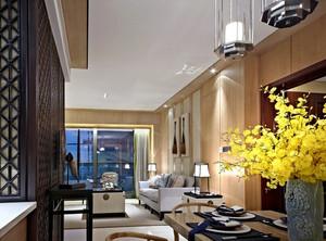 新中式错层别墅客厅 装修 设计 效果 图