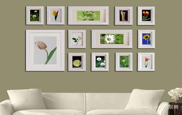复式楼简约风格照片墙设计效果图