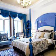 地中海风格卧室床头背景墙装饰