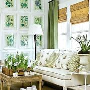 韩式风格绿色清新风格客厅装饰