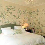 欧式简约风格卧室液体壁纸装饰