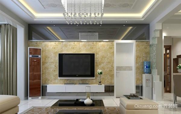 118平米时尚风格客厅吊顶装修效果图
