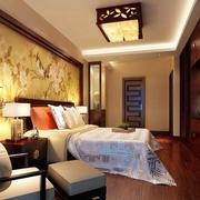 典雅中式大卧室背景墙装修效果图