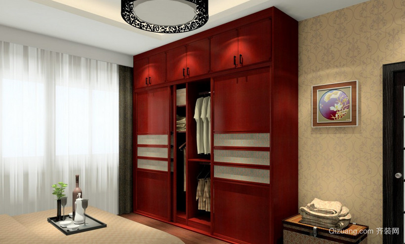 复式楼简约风格整体衣柜设计效果图