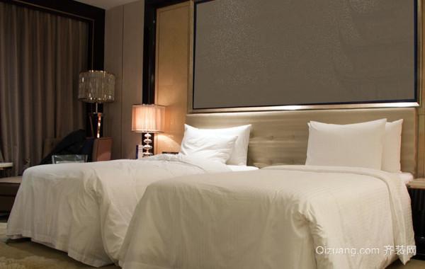 30平米欧式简约风格商务酒店卧室装修图