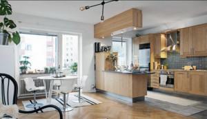 宜家20平米简约开放式家庭厨房装修效果图