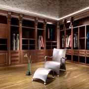 20平米时尚风格整体衣柜设计效果图
