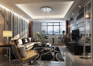 后现代小客厅简约吊顶装修效果图