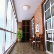 简约型阳台设计图片