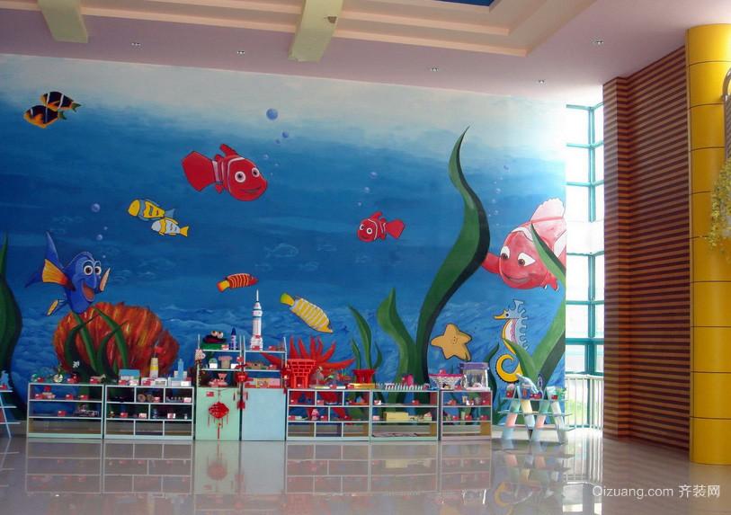 卡通小户型幼儿园壁画设计效果图