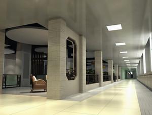 大型欧式风格老年公寓过道装修效果图