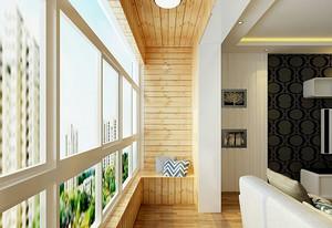 小户型自然风格阳台装修效果图