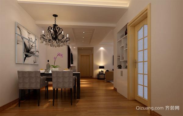 三居室简约风格餐厅装修效果图