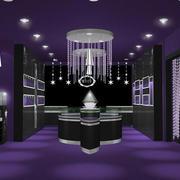 紫色系简约风格柜台装饰