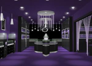 80平米精美商店店铺展示柜台设计效果图