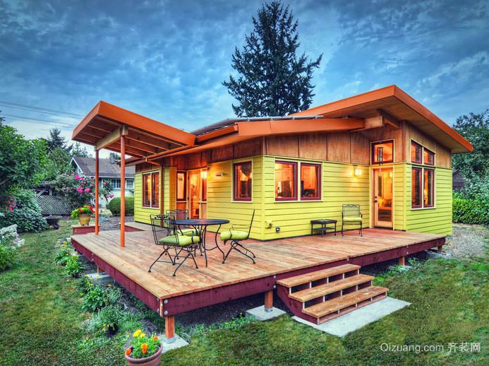 2016自然精致郊区时尚小木屋别墅设计图