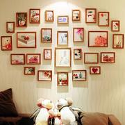 暖色调照片墙装修