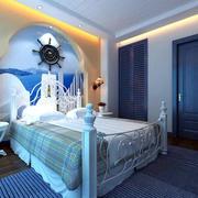 地中海风格卧室石膏板吊顶