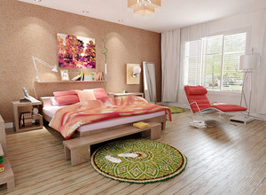 70平米都市两居室房子卧室装修效果图