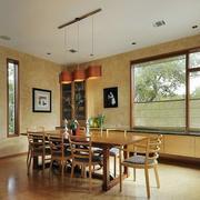 自然朴素小别墅餐厅装修设计效果图