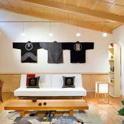 日式简约风格客厅背景墙装修