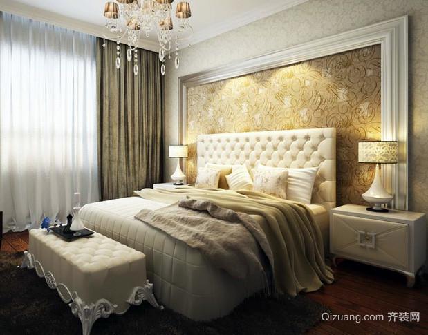 欧式奢华大气婚房卧室床头柜装修效果图