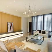 日式简约风格客厅飘窗装饰