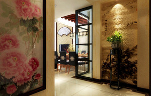 中式风格别墅玄关装饰