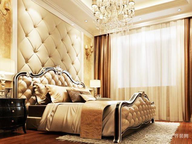 欧式别墅奢华卧室床头柜装修效果图