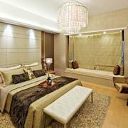 30平米暖色系新古典风格卧室装修效果图