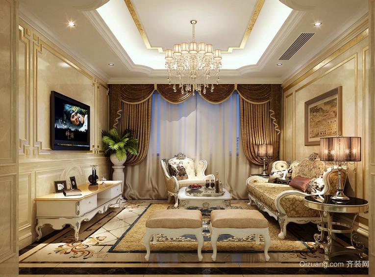 现代精美的欧式单身公寓卧室装修效果图