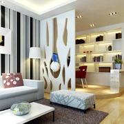 现代精致80平米家居隔断设计效果图