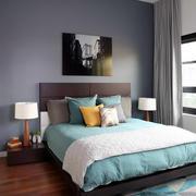 120平米现代简约风格卧室床头柜装修效果图