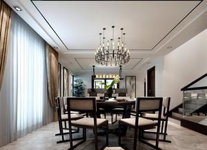 后现代风格复式楼餐厅装修设计效果图
