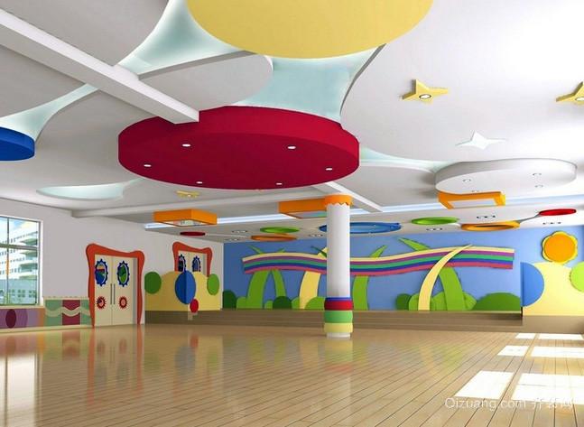 幼儿园大型背景墙装饰