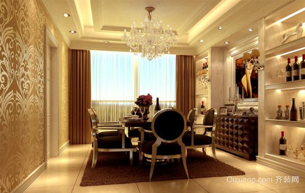2016唯美欧式小户型家装餐厅设计装修效果图