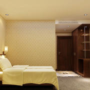 宾馆简约风格背景墙装饰