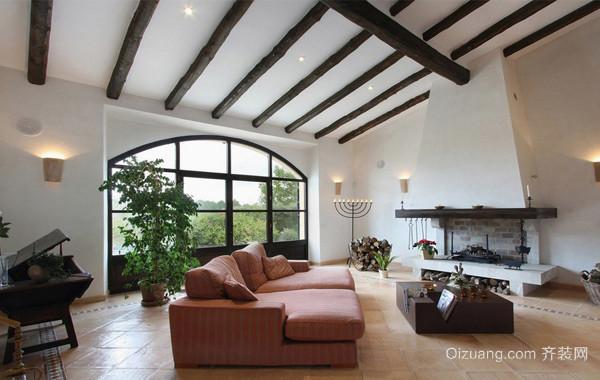 2016轻松的地中海风格别墅客厅装修效果图鉴赏