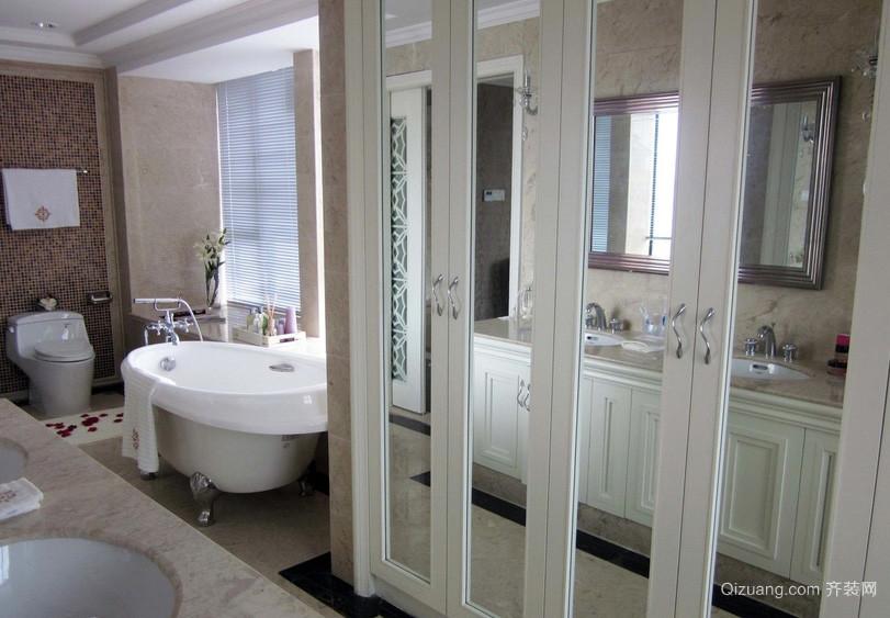 简欧风格别墅卫生间置物柜门装修效果图