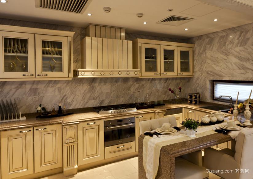 2016大户型欧式经典的厨房装修设计效果图