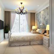 两室一厅欧式田园风格卧室装家壁纸设计图