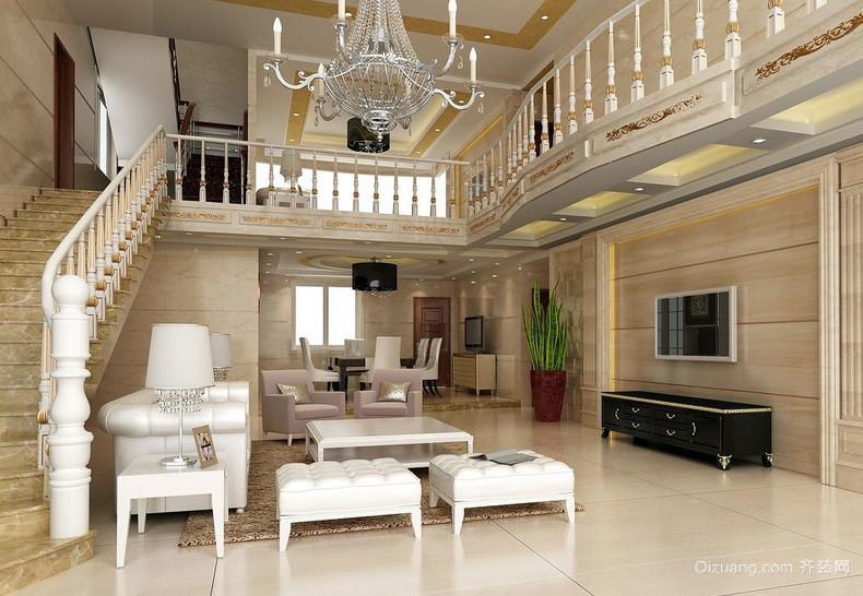 欧式豪华复式楼楼梯装修效果图
