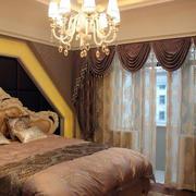 卧室欧式奢华窗帘设计