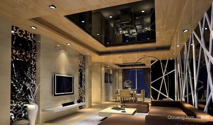 2016三居室后现代风格客厅装修效果图