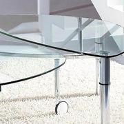 三居室简约型玻璃茶几效果图片