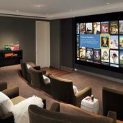 别墅清新风格家庭影院装修效果图